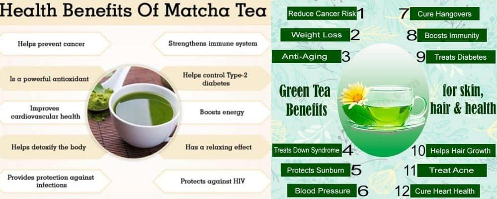 Health benefits of green tea and matcha